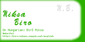 miksa biro business card